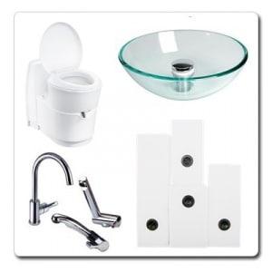 Voda in sanitarni material
